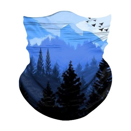 blau Berg/Vögel